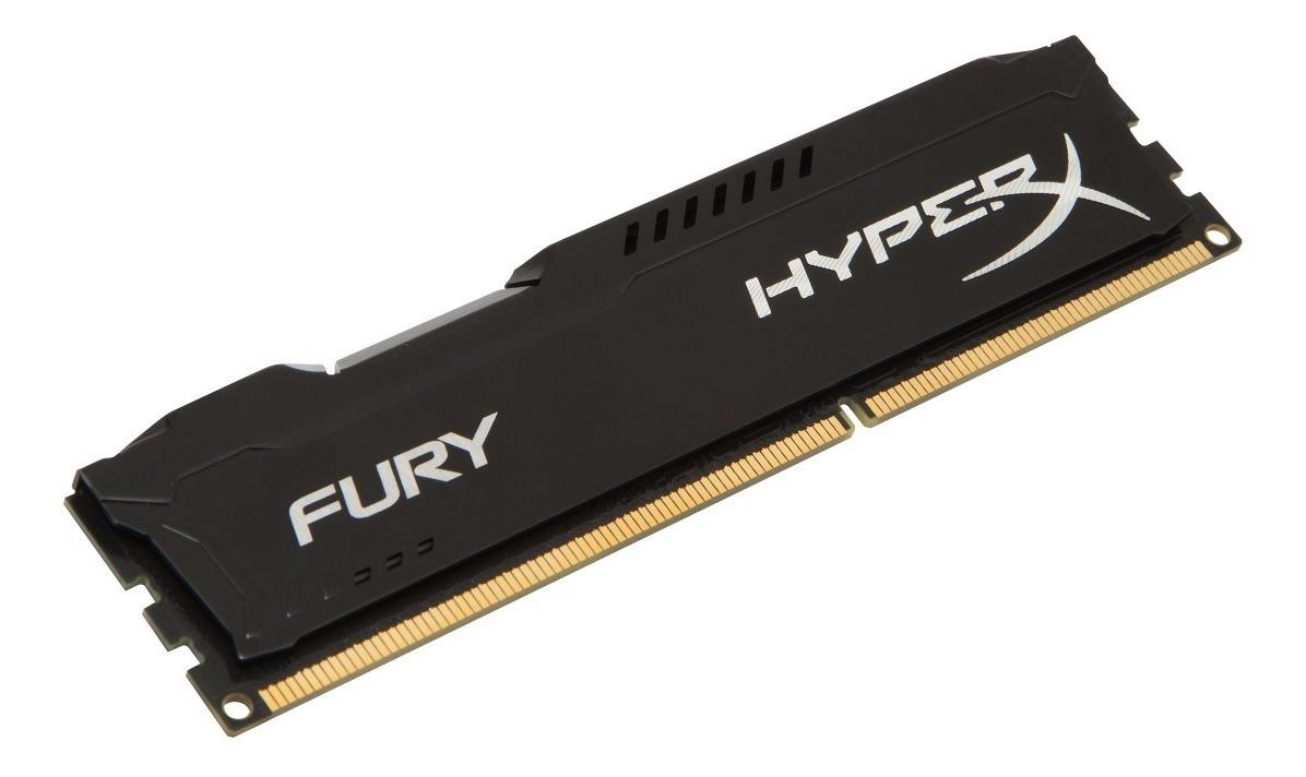 Memoria Ram Pc Hyperx Fury Ddr3 8gb 1600mhz Black