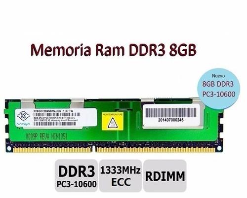 memoria ram ddr3 8gb seervidores nueva m