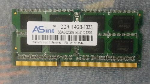 memoria ram ddr3 para laptop 4gb