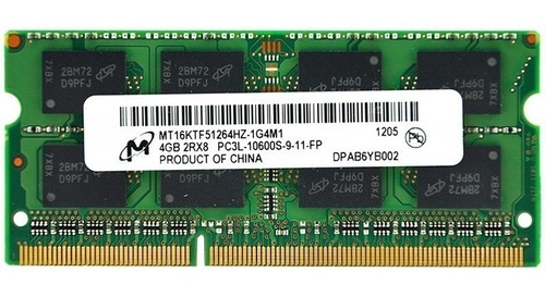 memoria ram  ddr3l 4gb pc3l-12800 1600mhz laptop