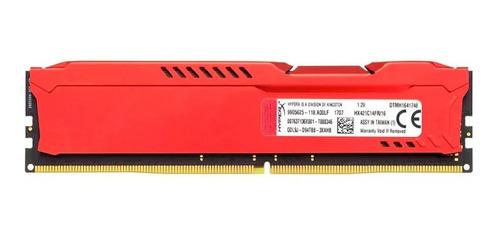 memoria ram ddr4 16gb 2133mhz hyperx fury red hx421c14fr/16
