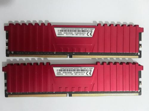 memoria ram ddr4 32gb (4x8gb) corsair vengeancelpx 3000 mhz