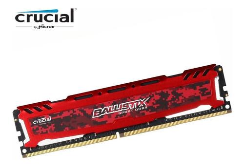 memoria ram ddr4 8gb 2400 crucial ballistix sport red gamer
