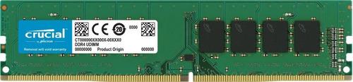 memoria ram ddr4 8gb 2400mhz crucial pc gamer nuevo 1.2v