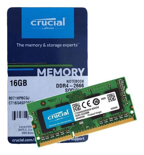 memoria ram ddr4 crucial 16 gb sodimm 2666 mhz