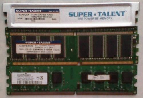 memoria ram de 1gb y de 512 mb para pc de mesa.