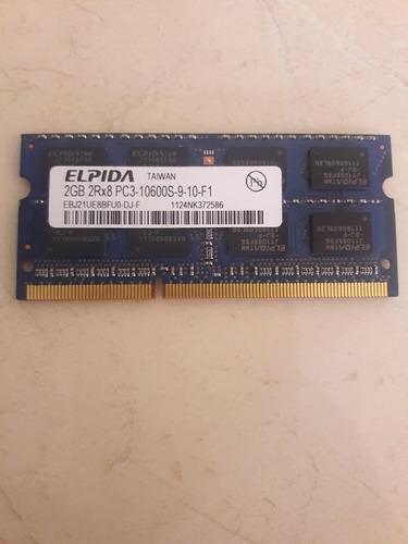 memoria ram elpida 2gb ddr3 pc3 10600 1333 mhz para laptop