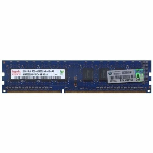 memoria ram hp 2 gb 1rx8 pc3 10600u 497157-d88 desktop pc