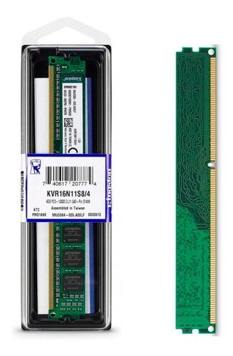 memoria ram kingston 4gb ddr3 1 x 4gb 1600 mhz valueram