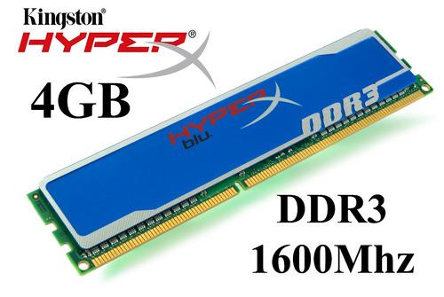memoria ram kingston 4gb ddr3 1600 hyper x