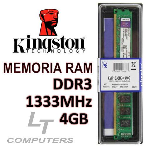 memoria ram kingston 4gb pc-1333mhz ddr3