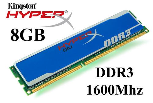 memoria ram kingston 8gb ddr3 1866 - 1600 hyper x fury