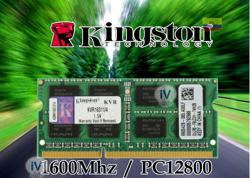 memoria ram kingston 8gb ddr3 pc3 l-12800 1600mhz sodimm