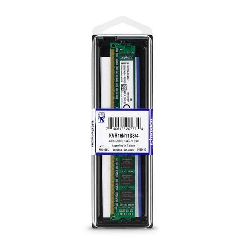 memoria ram kingston ddr3 4gb 1600mhz pc3-12800  (kvr16n11s8