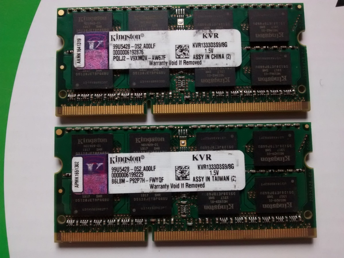 Memoria Ram Kingston Ddr3 8gb Para Laptop Kvr1333d3s9 8g S 140
