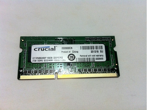memoria ram laptop canaim 2gb ddr3 1600mhz