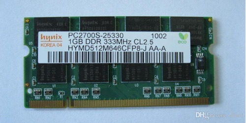 memoria ram laptop pc2700 1gb ddr 333mhz cl 2.5