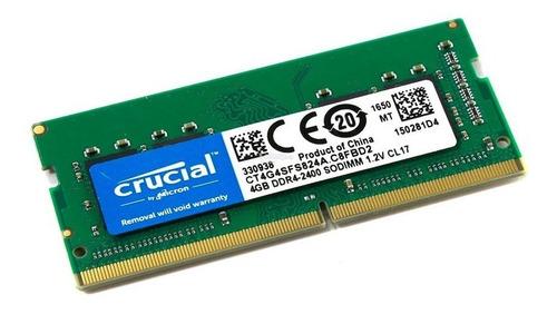 memoria ram notebook ddr4 crucial 4gb 2400 mhz sodimm