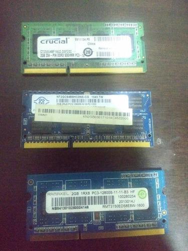 memoria ram para laptop 2 gb  ddr3 pc12800 - 10600