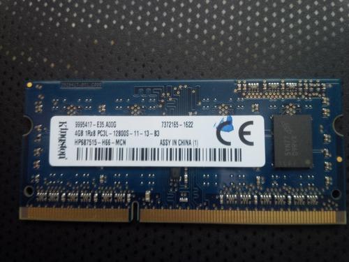 memoria ram para laptop de 4gb ddr3 marca kingston