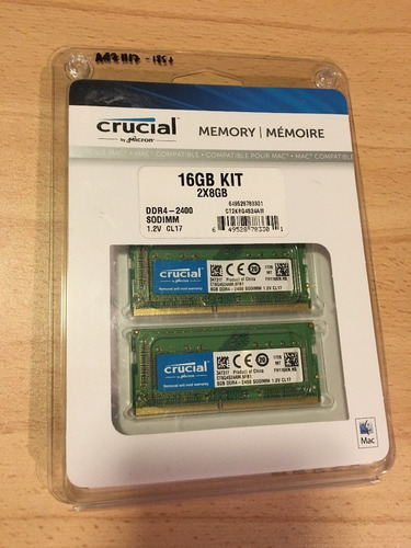 memoria ram para macbook imac crucial 8gb ddr3