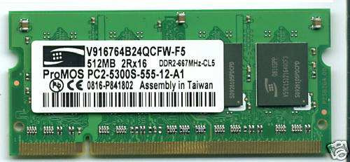 memoria ram para notebook ddr2 512mb