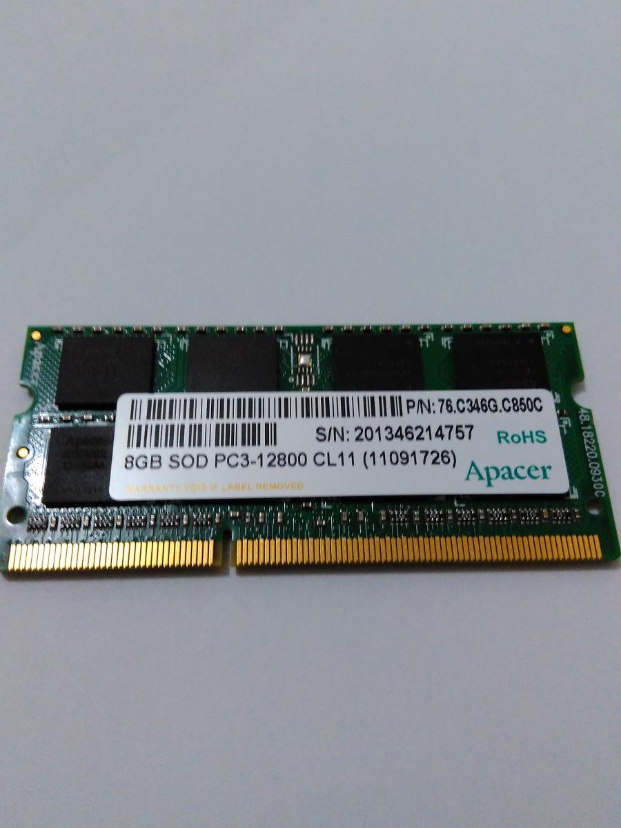 Memoria Ram Para Notebook Ddr3 8gb Pc 12800 Apacer Usado R 110 00