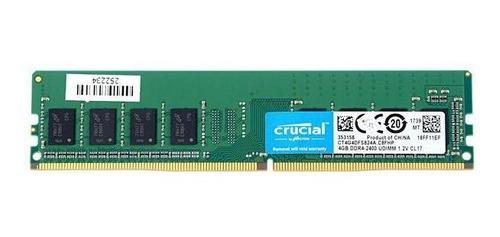 memoria ram para pc 4gb ddr4 crucial