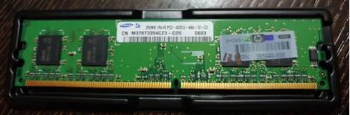 memoria ram pc ddr2 256mb hp p/n 355949-888 pc2-4200u-444-12