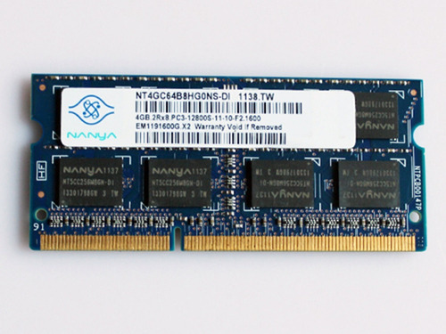 memoria ram portátil ddr3 4gb 12800s (1600mhz)
