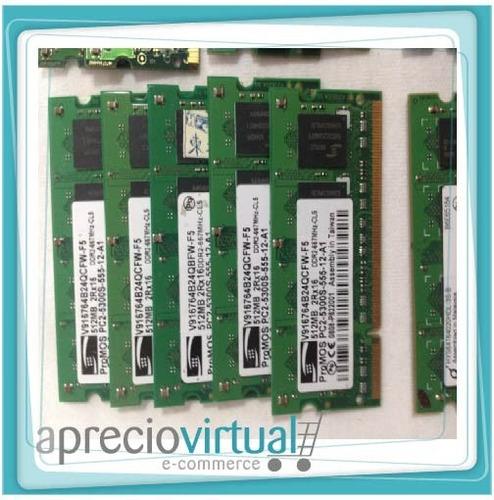 memoria ram portatiles 512 megas ddr2 pc2 5300