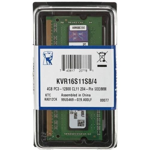 memoria ram sodim kingston  ddr3 4gb bus 1600 laptop