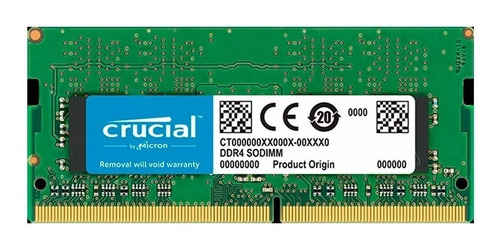 memoria ram sodimm notebook crucial ddr4 4gb 2400mhz