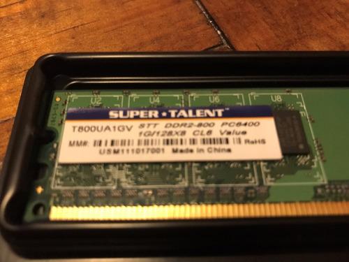 memoria ram super talent 1 gb ddr2-800