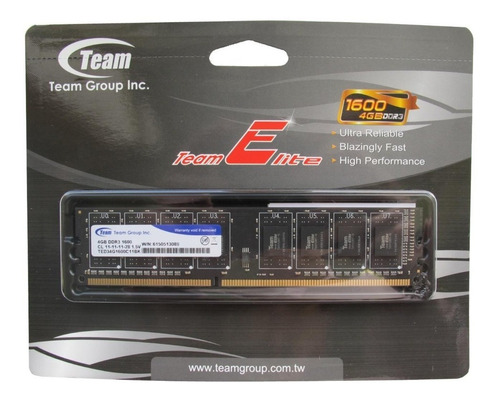 memoria ram team group ddr3 8gb 1600 mhz dimm nueva sellada