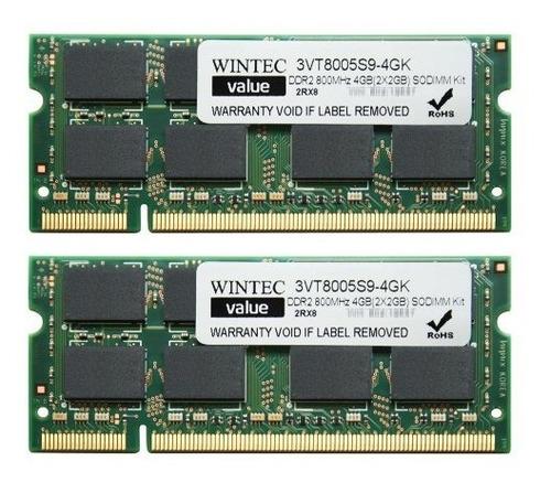 memoria ram wintec value mhz 4gb(2x2gb) 2rx8 4 dual