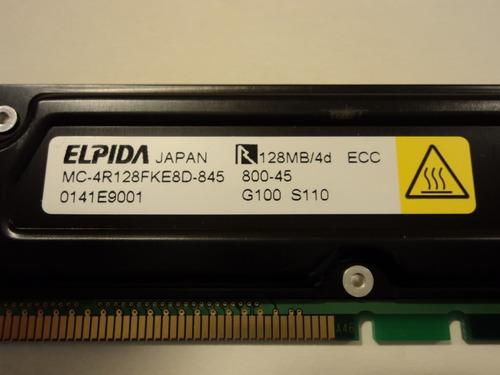 memoria rdram rimm 128mb para pc dell o compaq
