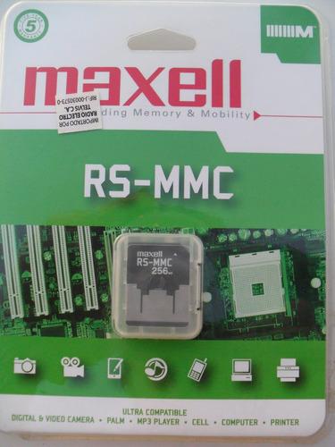 memoria rs-mmc 256 megas. marca maxell