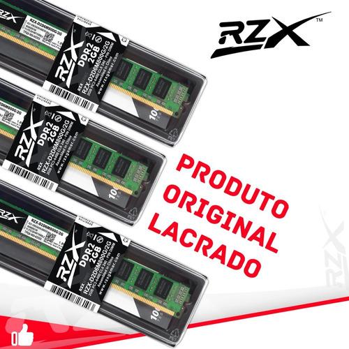memória rzx ddr2 2gb 800mhz promoção original
