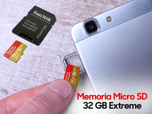 memoria sandisk extreme micro sdxc 64gb 160mb/s a2 sellada