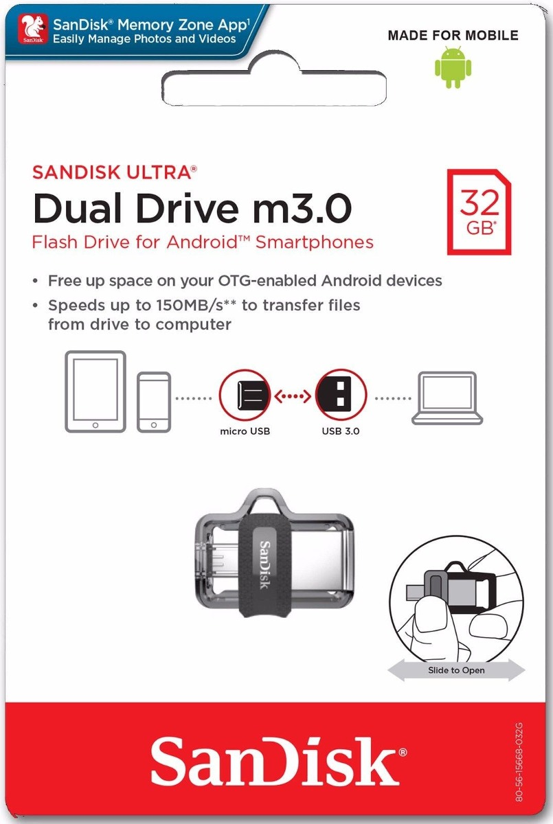 Jual Sandisk Ultra Dual Usb Drive 30 Flash Disk 32gb M30 Flashdisk Otg 32 Gb Memoria Cargando Zoom