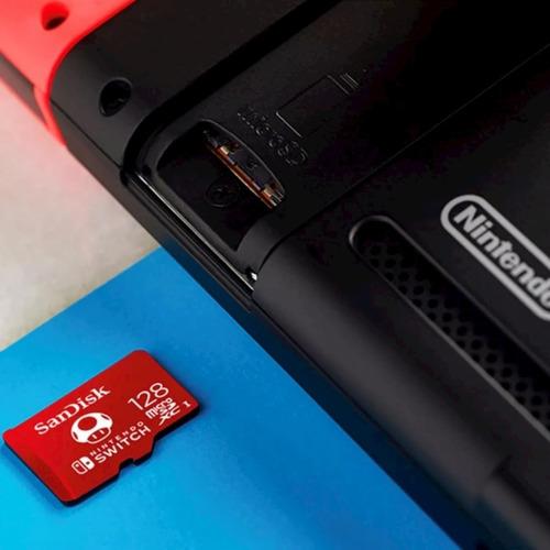 memoria sandisk micro sd 128gb para nintendo switch sdsqxao