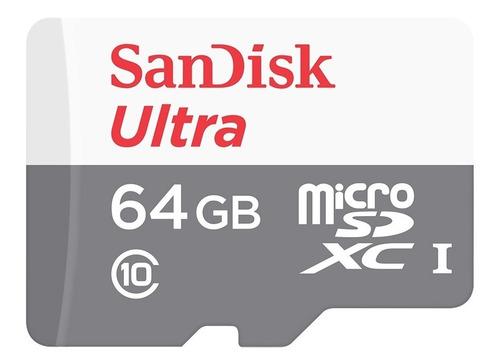 memoria sandisk micro sd clase 10 64gb 80mb/s sin adaptador