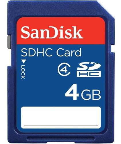 memoria sandisk sd 4 gb clase 4 super rapida original