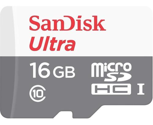 memoria sandisk ultra 16gb clase 10 80mb/s mg