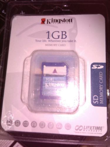 memoria sd 1gb kingstone nueva