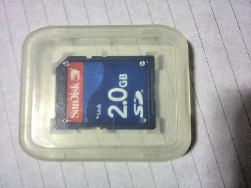 memoria sd 2gb usada scan disk 6.5m