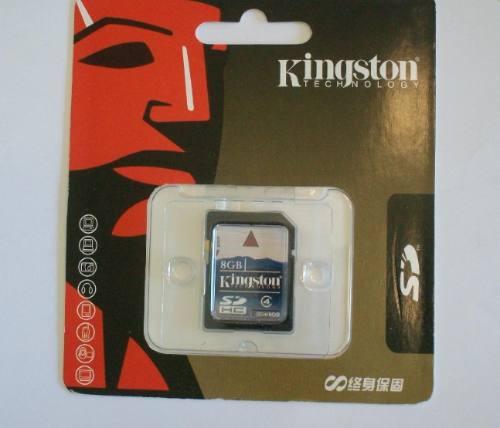 memoria sd  8gb kingston  (despacho gratis)