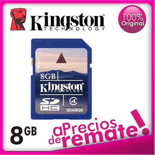 memoria sd 8gb kingston technology sdhc class 4 (original)