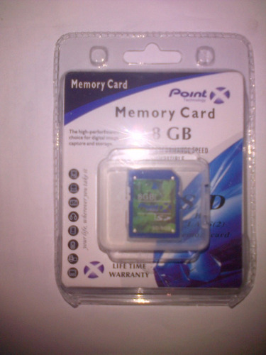 memoria sd 8gb silver point para cámara digital